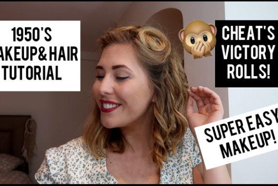 Easy 1950's Hair & Makeup Tutorial