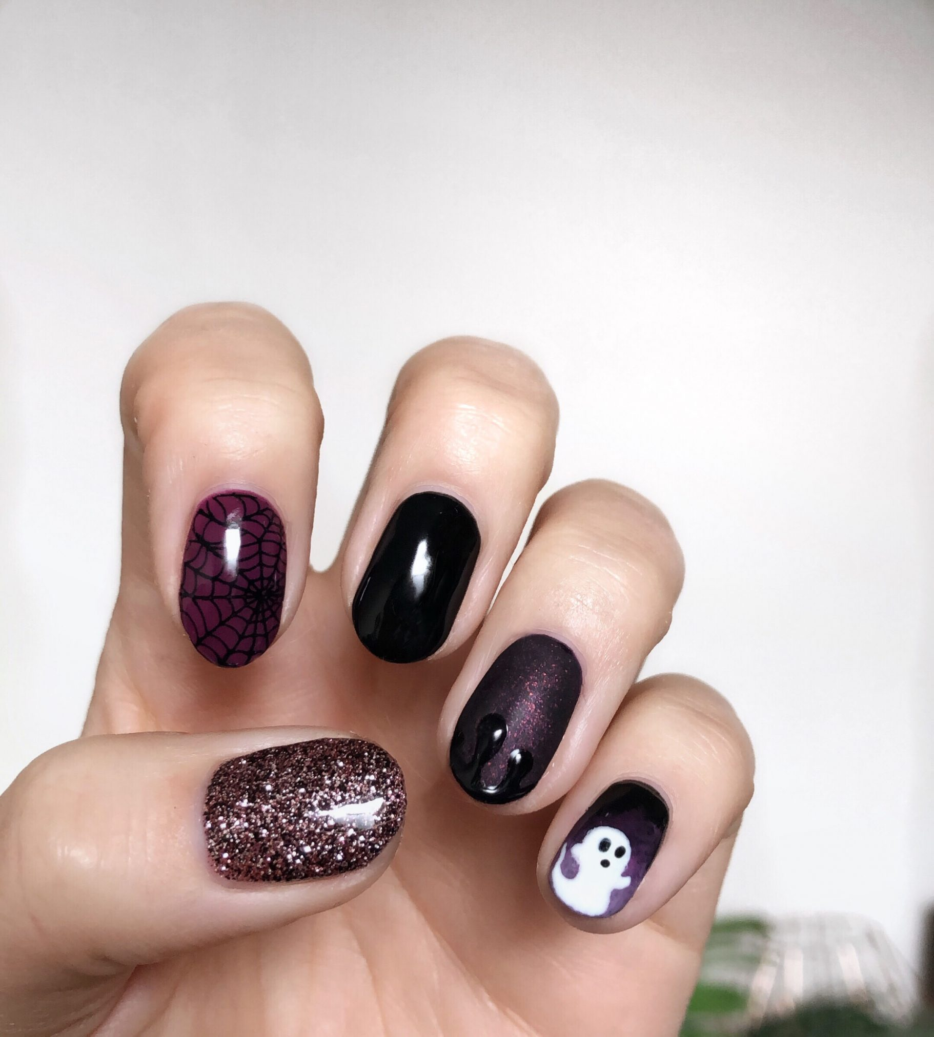 Halloween Gel Nails: Cute & Spooky Purple Nail Art Design