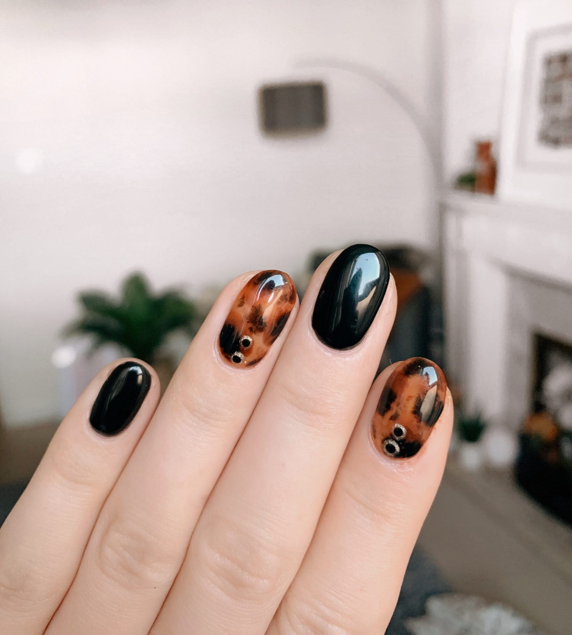 how to do tortoise shell nails