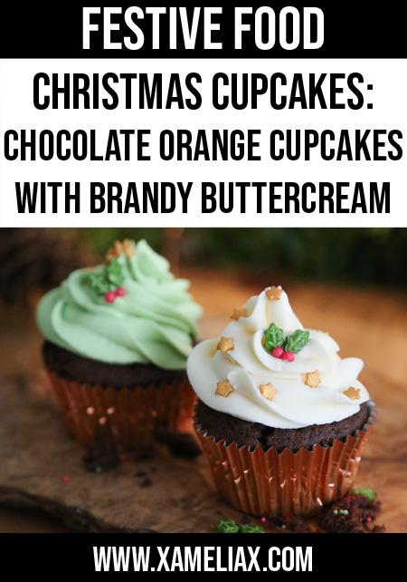Christmas cupcakes, chocolate orange cupcake