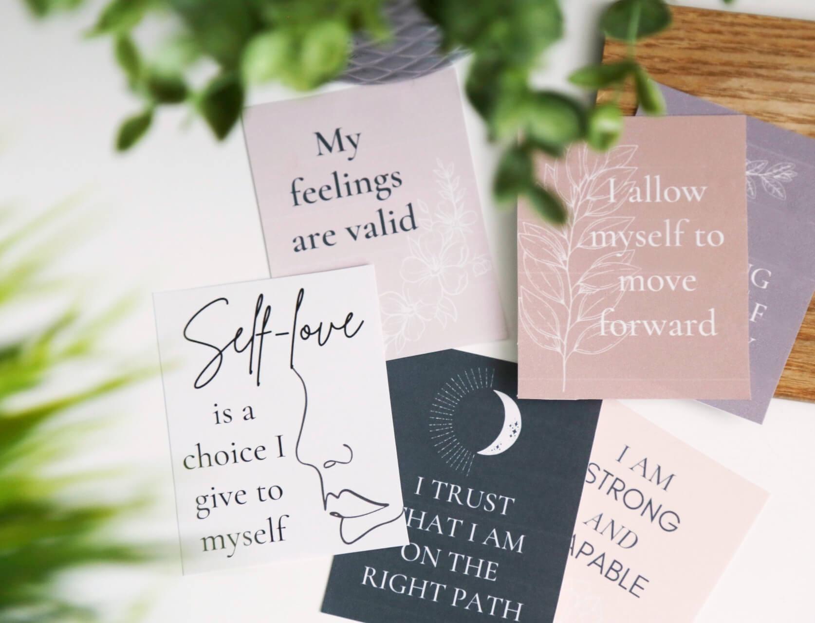 26 Printable Affirmation Cards for Self-forgiveness